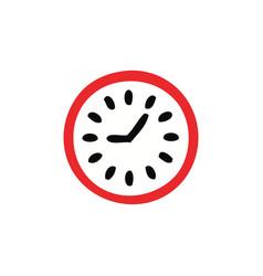flat color retro cartoon wall clock vector image