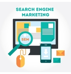 Flat modern design elements about Search Engine vector image
