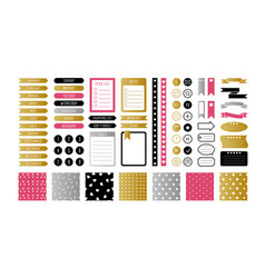 glitter stickers labels tags simple shape vector image