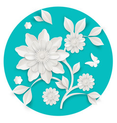 Graceful stem with charming blossom made paper vector