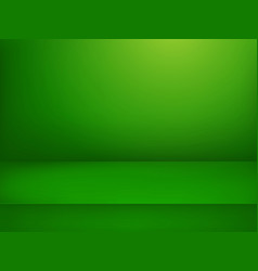 green illuminated stage advertising template vector image