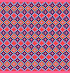 grid navajo geometric seamless pattern pixel art vector image