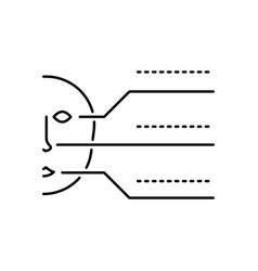 hacker biometric identification icon on white vector image