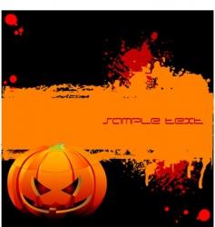 Halloween grunge banner vector