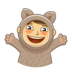 happy kid children party cartoon vector image