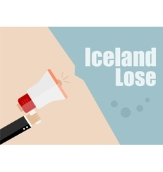 Iceland lose Flat design business vector image