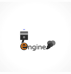 Icon automotive engine vector