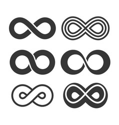 infinity symbol icons set vector image