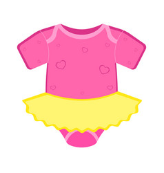 Isolated baby dress icon vector