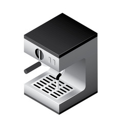 isometric coffee machine vector image