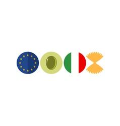 Italy Icon set vector