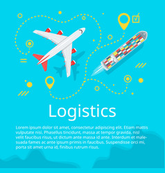 logistics concept top view vector image