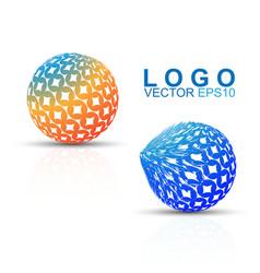 logo revolve effect circle design logo vector image