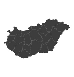 map of hungary with regions vector image