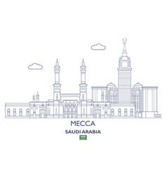 mecca city skyline vector image