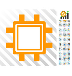 mining pool flat icon with bonus vector image