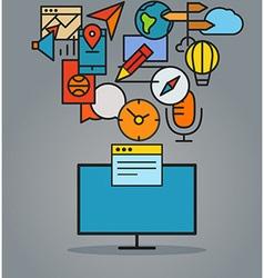 Modern web communication scheme vector