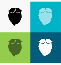 Moustache hipster movember beared men icon over vector