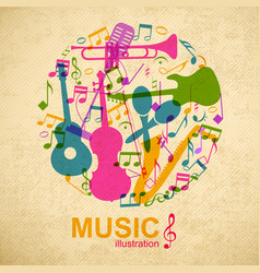 Musical round composition vector