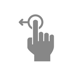 one-touch and swipe left grey icon touch screen vector image