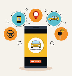 online taxi service smartphone application vector image