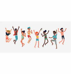 people celebrating summer vector image