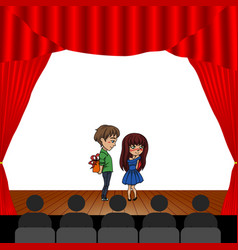 people in the theater vector image vector image
