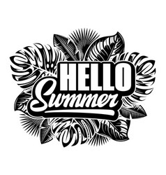 poster for summer party with inscription vector image