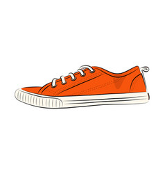 sketch of sport shoes sneakers for summer stock vector image