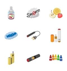 Smoking icons set cartoon style vector image