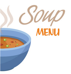 soup menu soup background image vector image