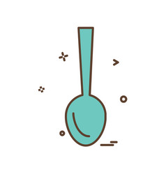 spoon icon design vector image
