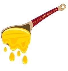 Spoon with honey vector