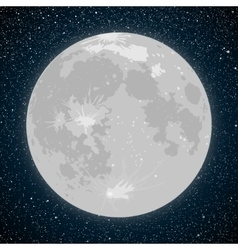 Starry night sky stars moon vector