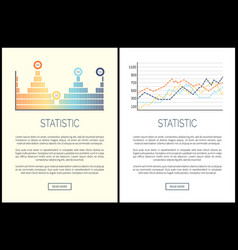 statistic and analysis visualization of results vector image
