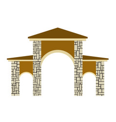 Stone columns of a gate vector
