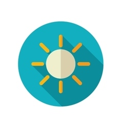 Sun flat icon Meteorology Weather vector image