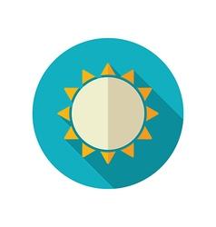 Sun flat icon Summer Vacation vector image