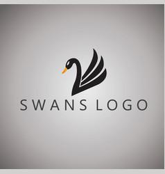 swans logo ideas design vector image