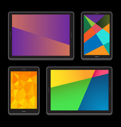 touch screen devices vector image