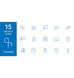 training icons vector image