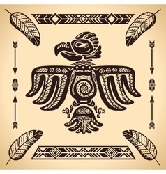 Tribal american eagle sign vector