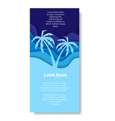 Two paper cut palms vector