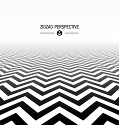 Zigzag pattern perspective vector
