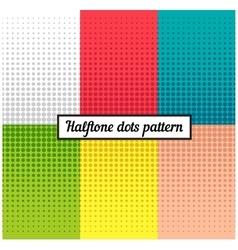 Colour set of halftone retro background vector image