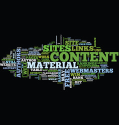 free web content text background word cloud vector image