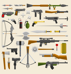 hunter and war military weapon vector image