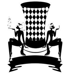 white-black top-hat vector image
