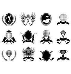 black golf insignia vector image