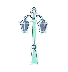 classy outdoor lighting lantern lamp cute fairy vector image vector image